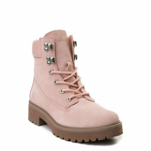 Timberland Women's Carnaby Cool 6-inc Boots in Light Pink Suede (TB0A1SKA)