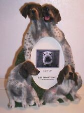 """German Shorthaired Pointer 9"""" x 7"""" Hand Painted Resin Frame Holds 3 1/2""""x 5"""" Pic"""