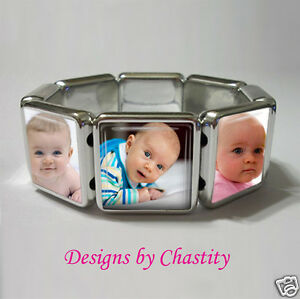 Custom Photo Bracelet Stretch Personalzed Pet Baby Family Keepsake Customized