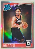 GARY TRENT JR 2018-19 Optic Silver Holo Prizm Refractor Rated Rookie Card RC SP