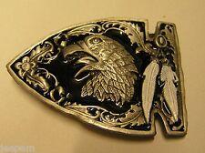 indien d'Amérique flèche tête aigle blanc plumes boucle ceinture