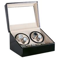 Uhrenbeweger Uhrenbox Uhrenkasten Automatikuhr Schwarz Holz Uhrendreher 6 Uhren