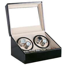 Uhrenbeweger Uhrenbox Uhrenkasten Vitrine Schwarz Holz Uhrendreher 6 Uhren