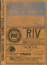 Elenco telefonico Sicilia 1930 - File elettronico (pdf o jpg)
