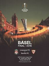 Europa League Final 2016 programme. CFT V Sevilla. L'UEFA.