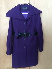 Women's GUESS Purple Belted Peacoat Winter Coat Sz S - Only Worn A Few Times!