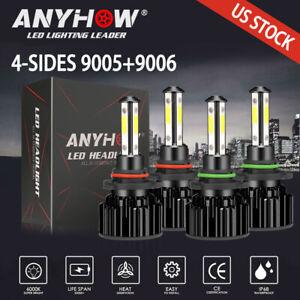 9005+9006 LED Combo CREE COB LED Headlight Kit 24000lm Light Bulbs Hi Low Beam