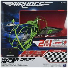 Air Hogs 2-in-1 Hyper Drift Drone for High Speed Racing and Flying - Green *NEW*