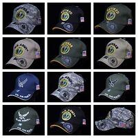 USA Air Force Army Hat Military U.S. Flag Hats Baseball Cap Veteran Retired Caps