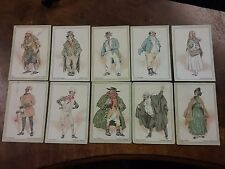 CIGARETTE CARDS JOHN PLAYER, CHARACTERS FROM DICKENS, ten cards see pic for cond