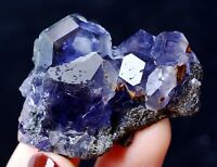 China / Newly DISCOVERED RARE PURPLE FLUORITE CRYSTAL MINERAL SPECIMEN 38.86g
