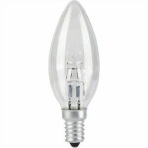 x10 Heathfield 42w SES E14 Clear Halogen Candle Energy Saving Screw Bulb