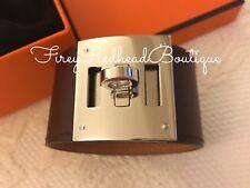 Hermès Kelly cane Bracciale/Braccialetto bordeaux SWIFT in pelle con il palladio H/W-NUOVA con etichetta!