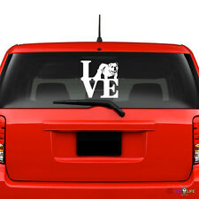 Love English Bulldog Windshield Sticker Vinyl Auto Window park british