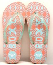 Roxy Flip Flops Pink / Turquoise / Green US Size 9 - FREE SHIPPING - BRAND NEW