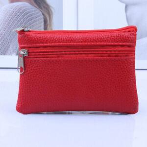 1PC Leather Coin Purse Women Small Wallet Change Purses Mini Zipper Money Bags