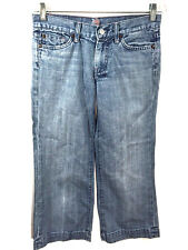 7 Seven For All Mankind Jeans Crop Dojo Capris Wide Leg Womens 26 Actual 29 x 24