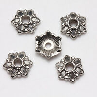 100/200Pcs Tibetan Silver Carved  Bead Caps Charm 7mm Jewerly Making Crafts DIY
