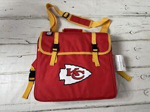 Kansas City KC Chiefs NFL Cushion Folding Stadium Seat Chair Cup Holder NEW