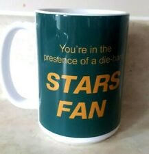 Dallas Stars Cup Coffee Mug Die Hard Fans Cheer Accordingly or Shut Up Large