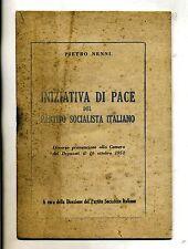 Pietro Nenni # INIZIATIVA DI PACE DEL PARTITO SOCIALISTA ITALIANO # 1952