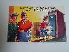 BAMFORTH Vintage Postcard No 2278  60s Music Humour Before the Mobile Phone Era