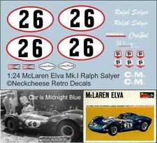1:24 Decals for McLaren-Elva Mk.1 Ralph Salyer (Monogram)