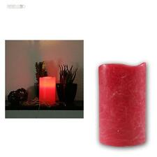LED cire véritable bougie rouge avec minuteur 12,5cm Scintillement électrique
