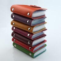 26 Slots Genuine Leather Business ID Credit Card Holder Case Pocket Bag Wallet M