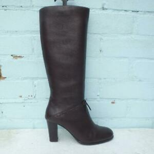 Carvela Leather Boots Size UK 4 Eur 37 Womens Shoes Pull on Brown Boots