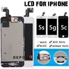 OEM iPhone 5C 5G 5S LCD Touch Screen Digitizer Replacement+ Home Button+Camera