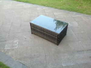 Rattan oblong coffee table patio outdoor garden furniture in 3 color