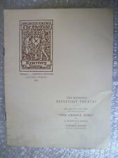 1931 Theatre Programme CHINESE WHITE/THE CRADLE SONG/VICE VERSA