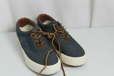 Polo Ralph Lauren Vaughn Chambray Canvas Fashion Sneakers 7.5D Laces Up Shoes WB