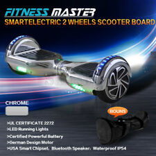 Smart Self Balancing Hoverboard Electric 2 Wheel Scooter Hover Board Chrome