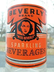 Miss Beverly Brand Beverages - Beverly, Ma. - ACL Soda Bottle