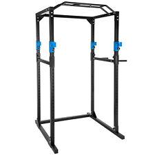 Station de musculation cage musculation dips fitness gym traction bleu noir