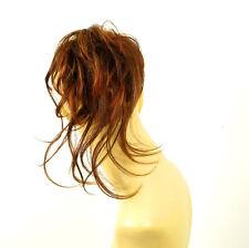postiche chouchou châtain cuivré méché blond clair et rouge : 22/33h130 peruk