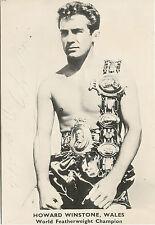 "Howard Winstone, Merthyr, Wales, World Boxing Champion signed 8""x6 photograph"