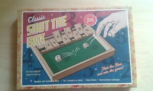 Retro Bazaar Classic Shut The Box Game BNIB
