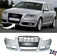 NEW AUDI A6 C6 FL 2008 - 2011 FRONT BUMPER WITH HEADLIGHT WASHER AND PDC HOLES
