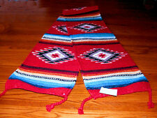"Table Runner Handwoven Wool 10x80"" Southwestern Native American Design #1A"