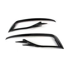 Black Front Fog Light Frame Trim Kit For VW Golf MK7.5 18-19