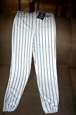 Bike Athletic Baseball Pants Mens Size Small White W/ Black Pinstripes - New