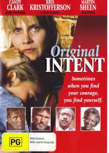 Original Intent DVD (1992 CHRISTIAN DRAMA MOVIE) Candy Clark - Martin Sheen - R4