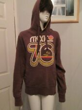 "CALIFORNIA - BROWN, MARL OVER THE HEAD HOODIE,""MEXICO 76""  SIZE SMALL-100%COTTON"