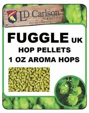 HOPS HOP PELLETS FUGGLE OLD WORLD AROMA 1oz NITRO FOIL FACTORY PACK BEER BREWING