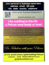 Engraved nameplate fit Pelican ™ 1610 1620 1630 1640 1650 1660 1690 1720 case