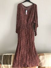Marks & Spencer Pink Leopard Print Dress Size 18