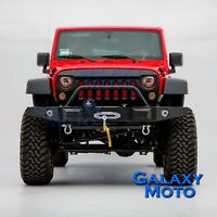 Rock Crawler Front Bumper Built in OE fog light Hole fit 07-18 Jeep JK Wrangler